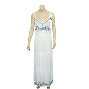 10212 Free People Floral Embroidered Maxi Dress S
